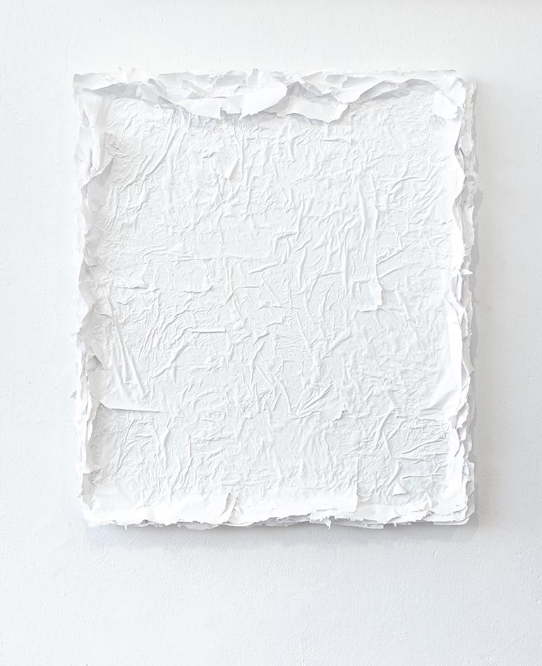 Małgorzata Pawlak, Biały, 2019, 75x65 cm, akryl na płótnie