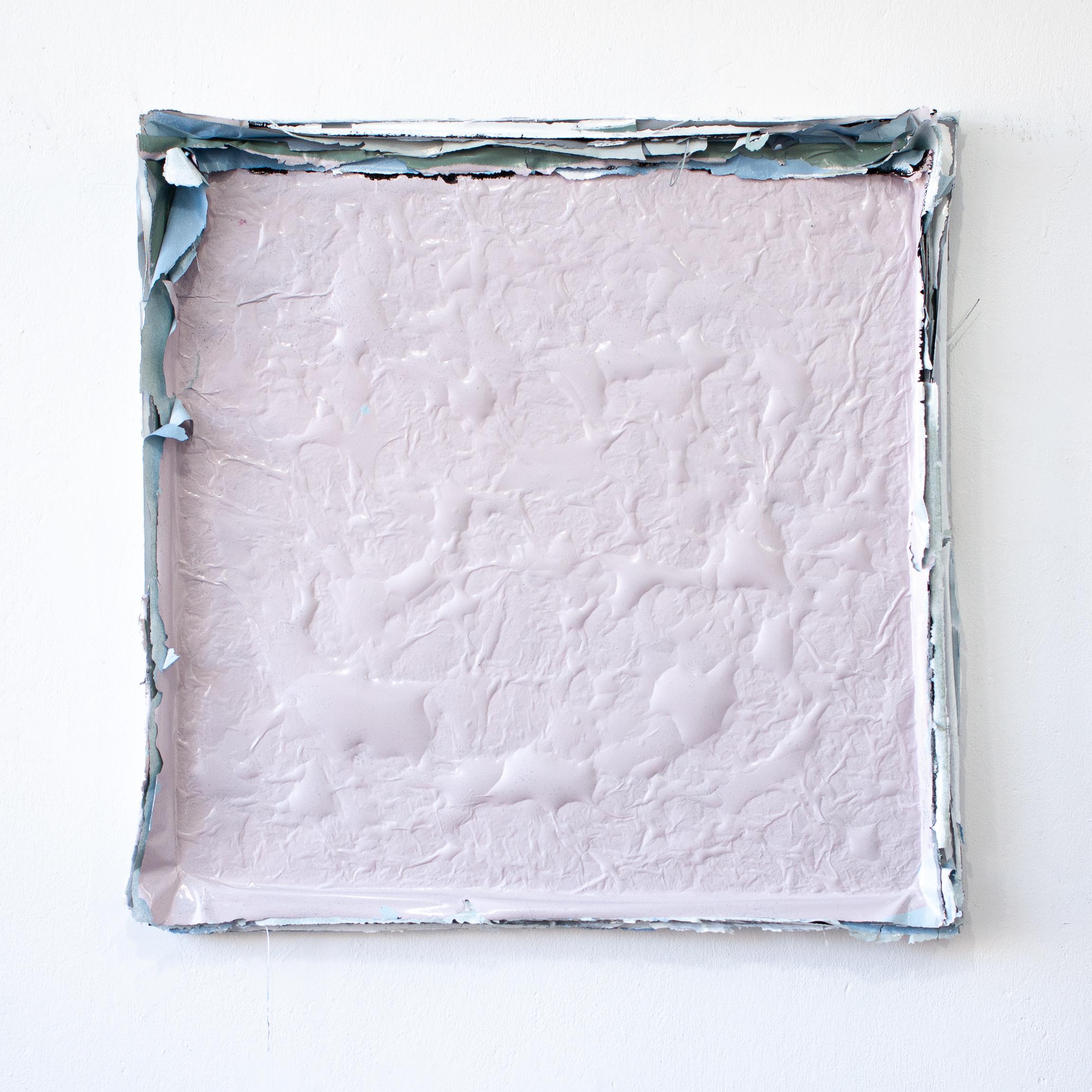 Małgorzata Pawlak, Warstwowy różowy, 2019, 75x75 cm, akryl na płótnie