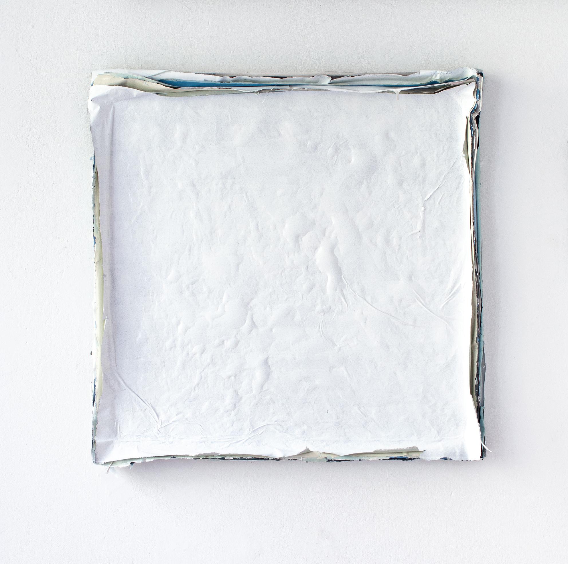 Małgorzata Pawlak, Warstwowy, 2019, 75x75 cm, akryl na płótnie