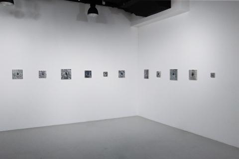 0 Małgorzata Pawlak, Dziuple, widok wyst. Powiększenie, Galeria Labirynt Lublin, 2020