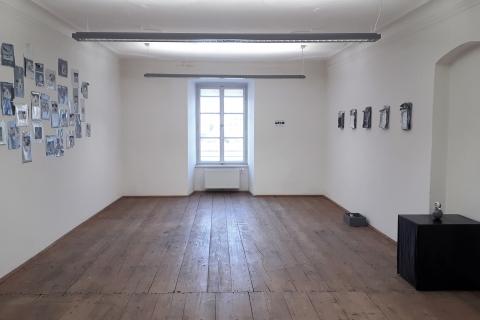 Małgorzata Pawlak, I look on my brain as a mass of hydraulically compacted thoughts, widok ogólny wystawy