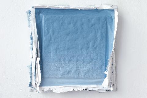 Małgorzata Pawlak, Blue collection, 2019, 30 x 30 cm akryl na płótnie
