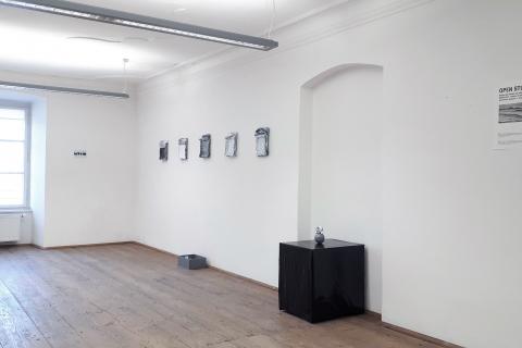 Małgorzata Pawlak,  I look on my brain as a mass of hydraulically compacted thoughts, widok ogólny wystawy (1)