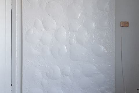 Małgorzata Pawlak, Purchle biały, akryl na płótnie, 200x150cm, 2020