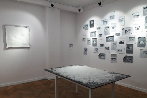 Purchle, Śnieg, Google Igloos, widok wystawy Zmiana Czasu, Galeria Nanazenit, 2020
