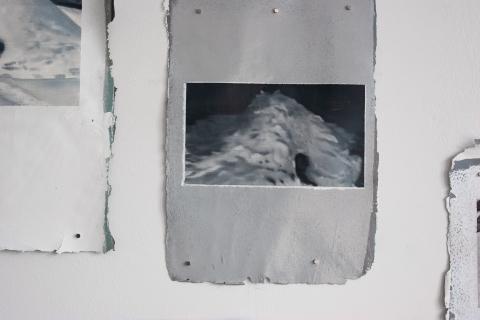 Google Igloos, olej na błonie akrylowej, detal, 2020