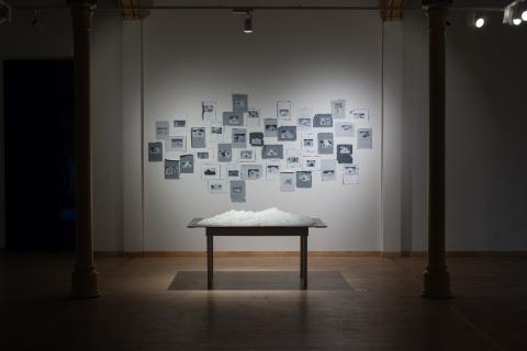 9 Małgorzata Pawlak, Wystawa Finalistów Konkursu Gepperta, prace Google Igloos, Snieg, malarstwo i instalacja 5
