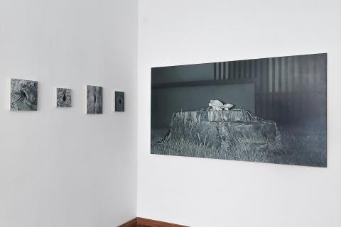 Nocne tele wizje, 2021, Galeria m2, widok wystawy