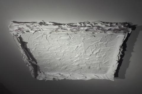 Biały, 2019, 75x65 cm, akryl na płótnie