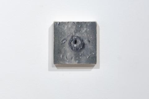Dziupla 16, 10x10cm, olej na płótnie, 2020