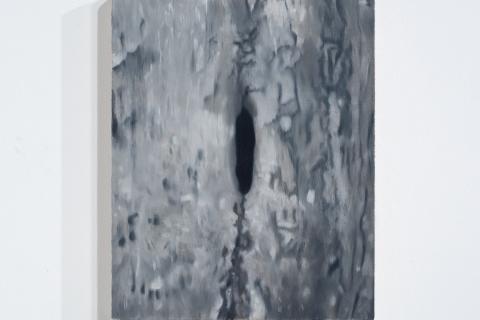 Dziupla 3, 30x24cm, olej na płótnie, 2020